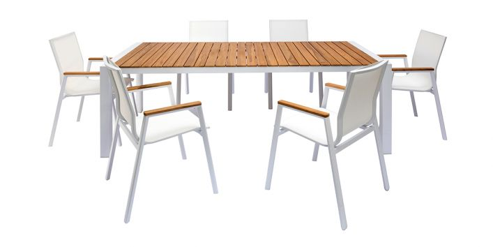 Aviana Outdoor Dining Set White