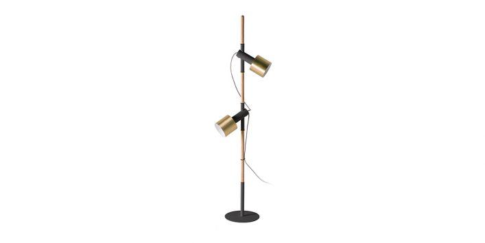 Carson Floor Lamp Brushed Brass