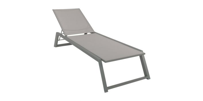 Isa Outdoor Lounger Gray