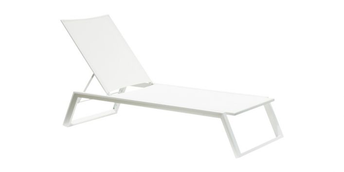 Isa Outdoor Lounger White