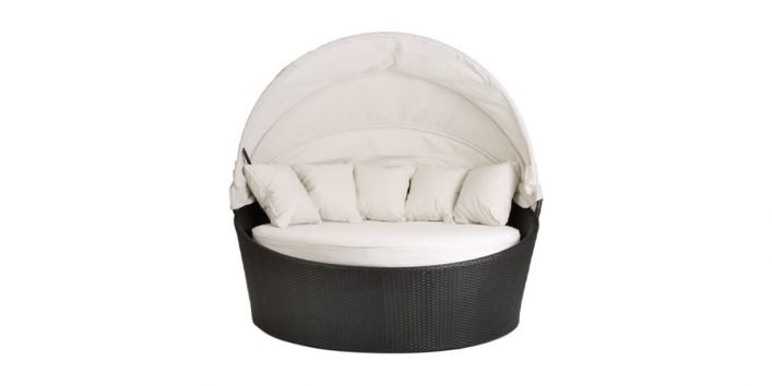 Love Seat Outdoor with Cap White
