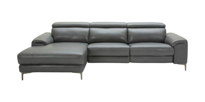 Thompson Sectional Motion Sofa Left Gray