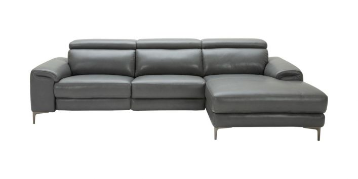 Thompson Sectional Motion Sofa Right Gray