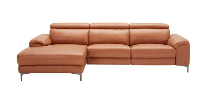 Thompson Sectional Motion Sofa Left Brown