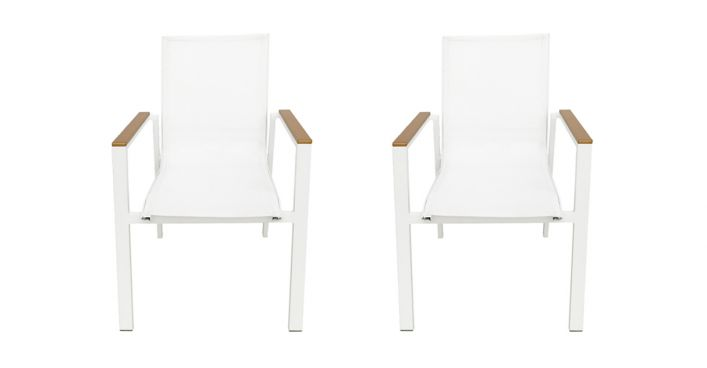 Fidji Outdoor Dining Chairs Set White