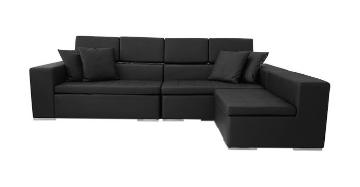 Monaco Sectional Sofa Black