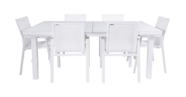 Vitale Outdoor Dining Set White