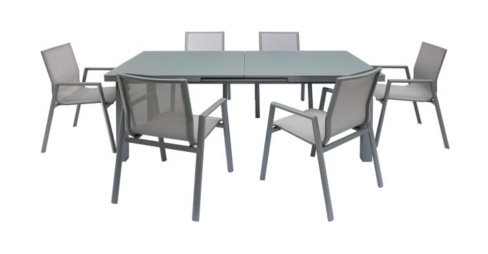 Vitale Outdoor Dining Set Gray