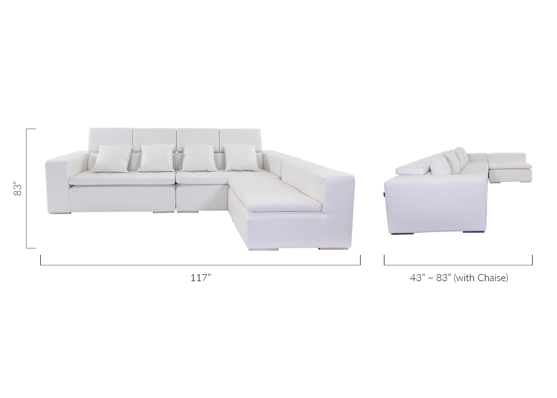 Groovy Monaco Sectional Sofa White Forskolin Free Trial Chair Design Images Forskolin Free Trialorg